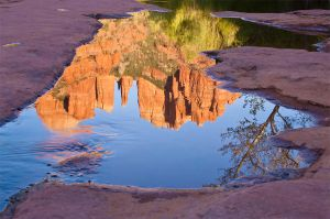 Red Rock Reflection by TrentLarsonphoto