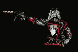 Star Lord - Guardians of the Galaxy - Black by stuponitron