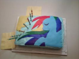 Rainbow Dash Cake by CptMcMuffinz