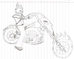 Rough work on Ghost Rider by nightshade-girl