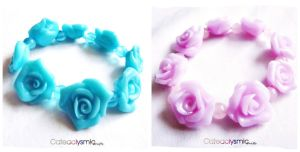 Rose Bracelets by Cateaclysmic