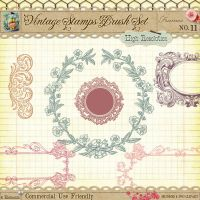Vintage Digital Stamps No 11 by starsunflowerstudio