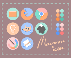 Macaron icon by goescat