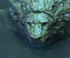 3D lion by Igriel