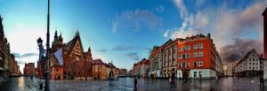 Wroclav market square by crh