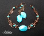 Earring and Link Bracelet Wire Set by SashaStout