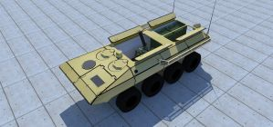 Amphibious mortar carrier by kaasjager