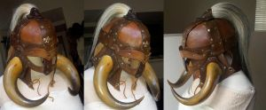 Leather Viking Helm by theDOC30427