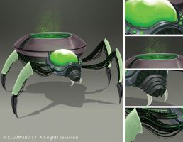 Spiderling details by Curare07