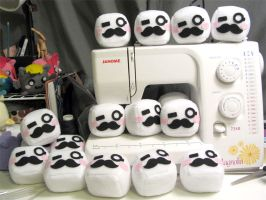 Moustache army by Tofutastic