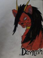 Devil Dog in Madara - Style by FlamedMoonwolf