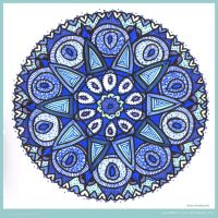 Looking Back Mandala by Quaddles-Roost