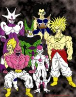 Dragon Ball Z villains by uppercasecat