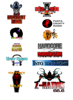 Pasta City Radio Station Logos by FearOfTheBlackWolf