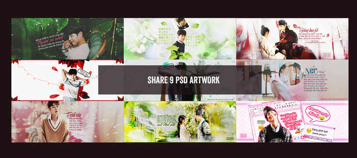 SHARE 9 PSD ARTWORKS by Chang1702