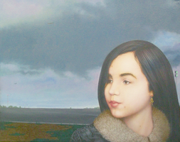 Lija Dievmilis and the Airport Lights of Riga by kolaboy