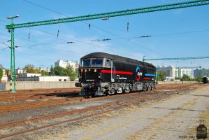 659 001-5 with a special train in Gyor on 2013 -3 by morpheus880223