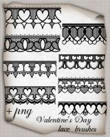 Valentine's Day lace brushes by roula33
