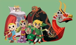 Wind Waker Main Cast by KanesTheName