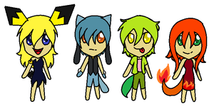 Pokemon Gijinka Adopts- CLOSED :D by Adopts-By-Us-For-U