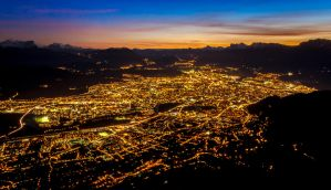 Grenoble City Night 3 by Seb-Graphie