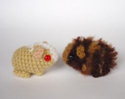 Guinea pig babies by LunasCrafts