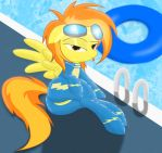 Spitfire hanging out by the pool...being seductive by Spitshy