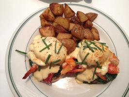 Lobster Benedict by nosugarjustanger