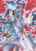 79th ACEO 'Blumennacht' by Hime-chama
