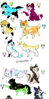 Dugs n Cats Adopts (CLOSED) by Neon-Spots-Adopts