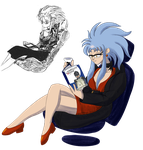 Daily Quickie - Ryoko with a good book. by Alvah-and-Friends