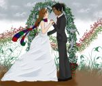 Oniki and El's Wedding by missingmyangel