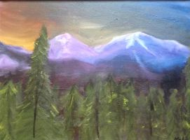 Mount Aetna and Mount Taylor Painting by Websurger