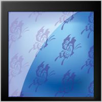 floral Blue glossy background by cgvector