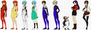 Evangelion Bookmark Set by RenaInnocenti