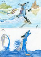 Breathe Again Comparison by Soulful-Purple-Wolf