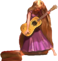 Tangled Rapunzel with Guitar PNG. by ENT2PRI9SE