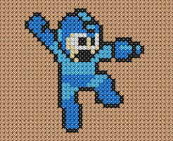 Mega Man Cross Stitch by drsparc