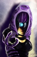 Tali`Zora Vas Normandy: Shepard Please don't leave by Bast-Fury