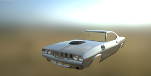 Low poly muscle car Substance ready Glossy by VladOcs