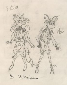 Rukia redesign and Noon by Vaatiwithblue