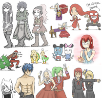 Fairy Tail Art Dump 02 by blamedorange