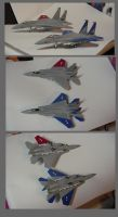 Cipher and Pixy F-15 models - 1:144 scale by lonewolf3878