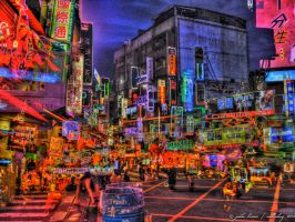 Taipei at Night I by NullCoding