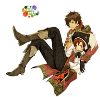 PNG - Spain and Chibi Romano by teriani16