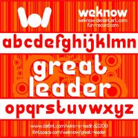 Great Leader font by weknow by weknow