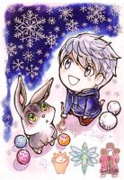Bunnymund and Jack Frost by meomeongungu