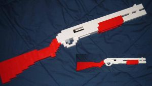 Lego Armory:pump shotgun by kliefox