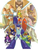 Megaman tribute by z3dd