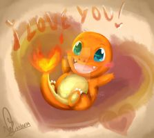 Charmander love by Nellair